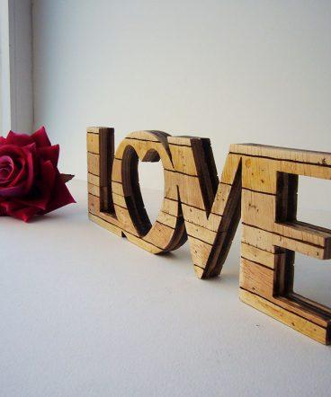 love retro de madera envejecido estilo palets