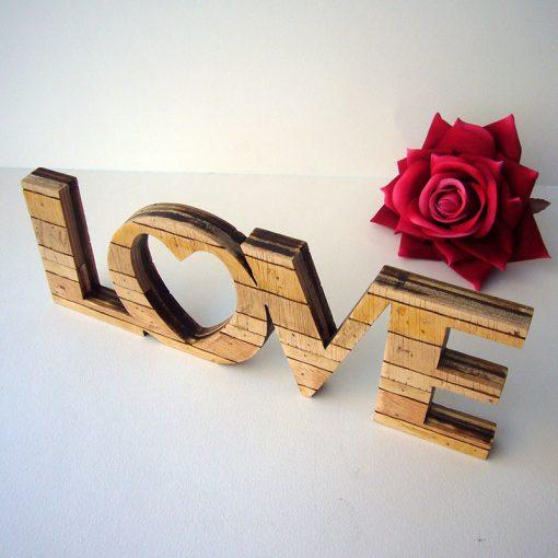 love retro de madera de palets