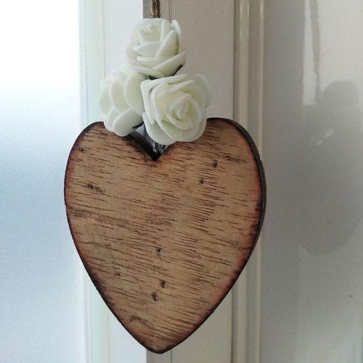 corazon de madera para personalizar
