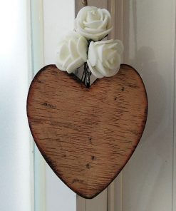 corazones de madera artesanos para personalizar
