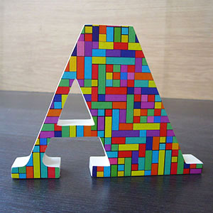 letra-a-cuadritos-multicolor Galeria