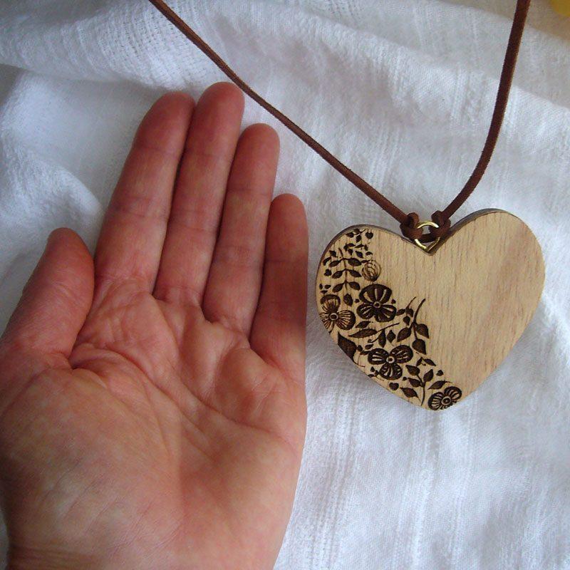 corazones colgante de madera para decoracion