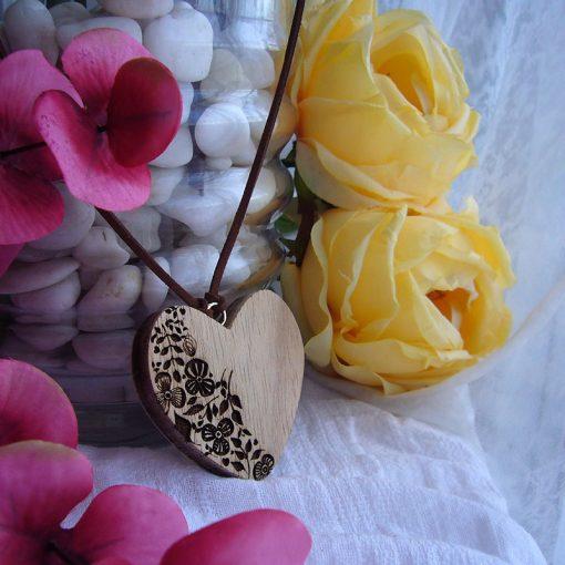 corazones colgante-de madera originales