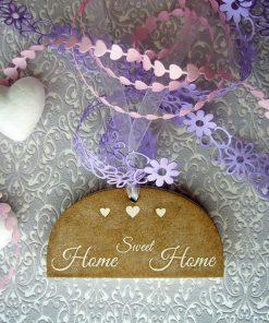 home sweet home colgante madera