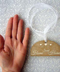 colgante de madera home sweet home