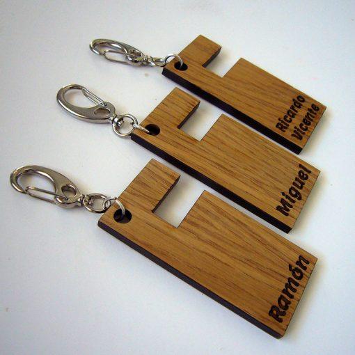 llaveros de madera manos libres