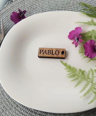llaveros marcasitios de madera personalizados