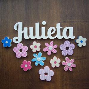 nombres-flores-madera Siluetas y figuras infantiles artesanales Uncategorized