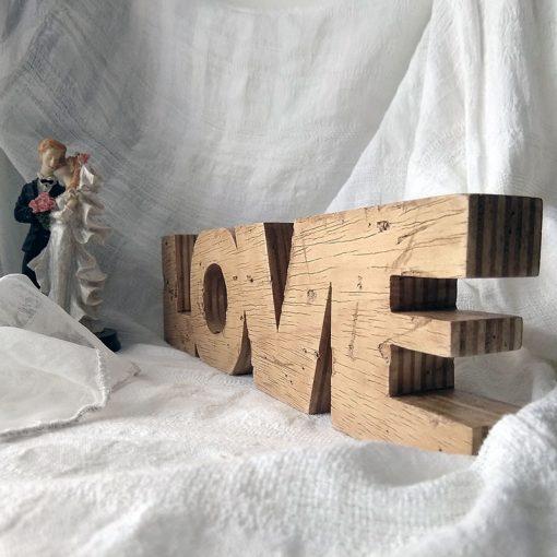 love envejecido de madera estilo vintage