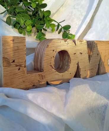 love envejecido de madera estilo retro
