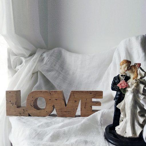 love envejecido hecho a mano