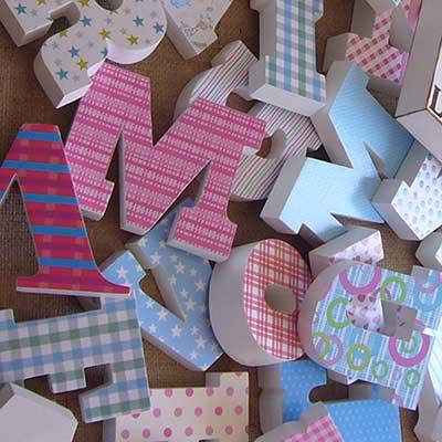 letras-decoradas Categoría Letras de Madera