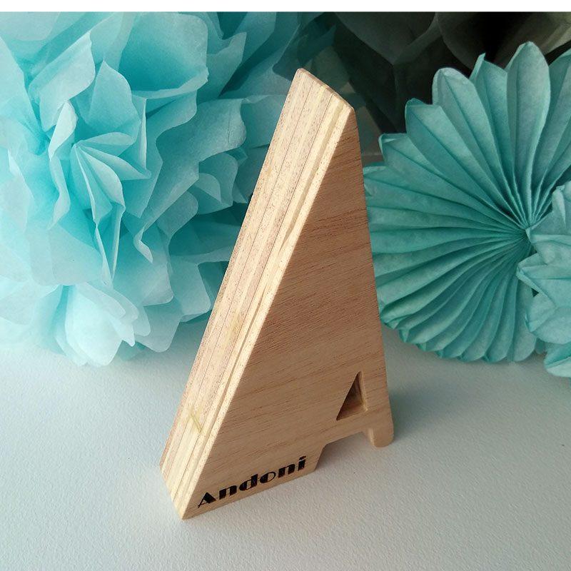 letra a de madera personalizada andoni