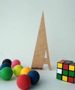 letra a de madera nombre andreu