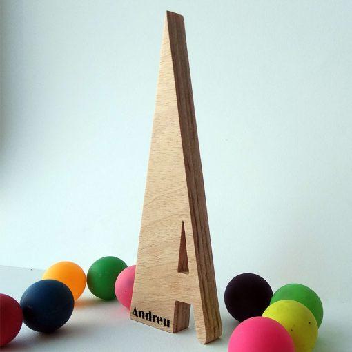 letra de madera personalizada andreu