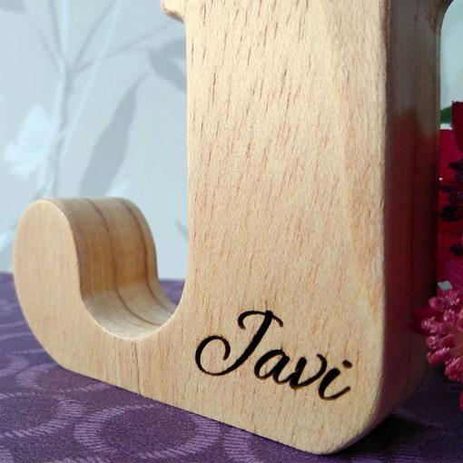 letra j de madera nombre javi
