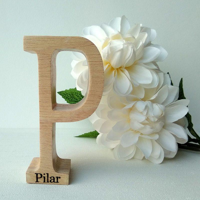 letra p con nombre pilar