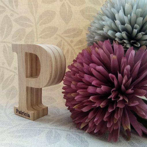 letra p con nombre patricia
