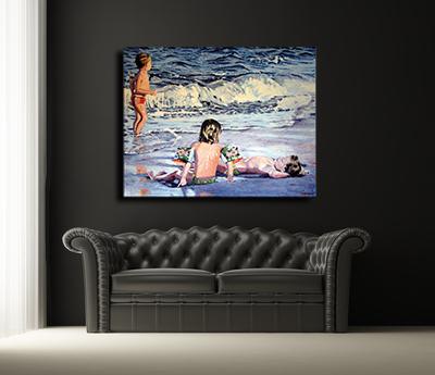 niños-playa Mis cuadros